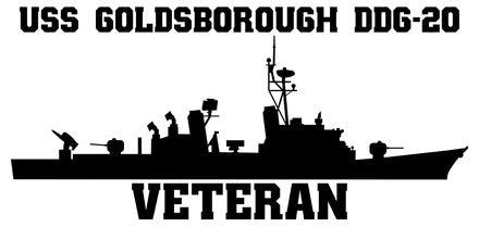 USS Goldsborough DDG-20 Veteran  Vinyl Sticker