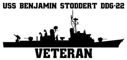 USS Benjamin Stoddert DDG-22 Veteran Vinyl Sticker  USS Benjamin Stoddert DDG-22 was the 21st ship in the CHARLES F. ADAMS - class of  U.S. Navy guided missile destroyers.