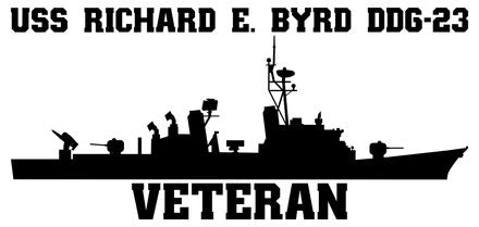 USS Richard E. Byrd DDG-23 Veteran Vinyl Sticker