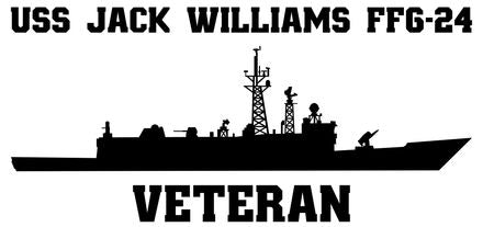 USS Jack Williams FFG-24 Vinyl Sticker
