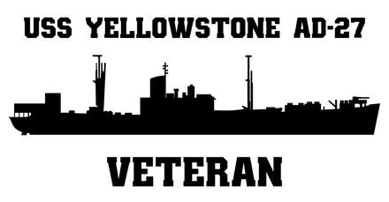 USS YellowStone AD-27 Veteran Vinyl Sticker