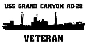USS Grand Canyon AD-28 or AR-28 Veteran Vinyl Sticker