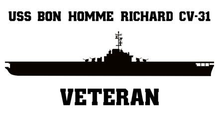 USS Bon Homme Richard CV, CVA -20 Veteran Vinyl Sticker