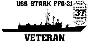 USS Stark FFG-31 Vinyl Sticker /with Remembrance Crest