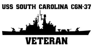 USS South Carolina CGN-37 Veteran Vinyl Sticker