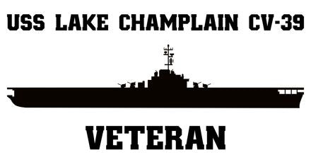 USS Lake Champlain CV, CVA, CVS -39 Veteran Vinyl Sticker