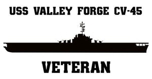 USS Valley Forge CV, CVA, CVS -45, LPH-8 Veteran Vinyl Sticker