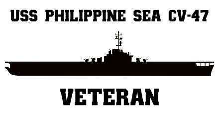USS Philippine Sea CV, CVA, CVS -47 Veteran Vinyl Sticker
