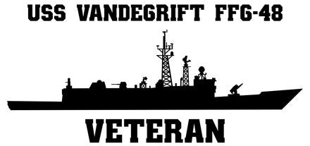 USS Vandegrift FFG-48 Vinyl Sticker