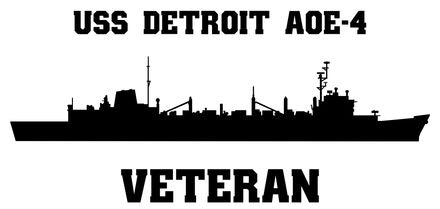 USS Detroit AOE-4 Veteran Vinyl Sticker