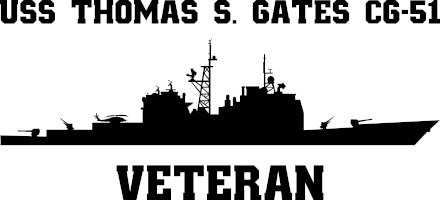 USS Thomas S. Gates CG-51 Veteran Vinyl Sticker