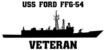 USS Ford FFG-54 Vinyl Sticker