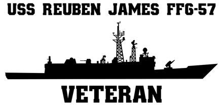 USS Reuben James FFG-57 Vinyl Sticker