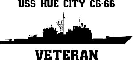 USS Hue City CG-66 Veteran Vinyl Sticker
