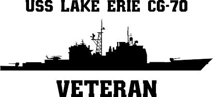 USS Lake Erie CG-70 Veteran Vinyl Sticker