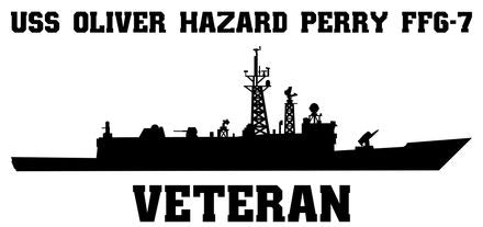 USS Oliver Hazard Perry FFG-7 Vinyl Sticker