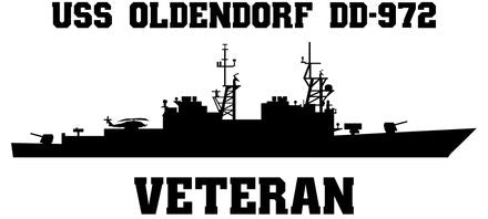 USS Oldendorf DD-972 Veteran Vinyl Sticker