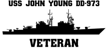 USS John Young DD-973 Veteran Vinyl Sticker