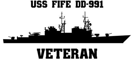 USS Fife DD-991 Veteran Vinyl Sticker