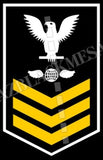 Aviation Electrician's Mate (AE) First Class White Gold