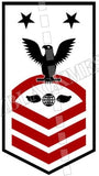 Aviation Electrician's Mate (AE) Master Chief Black Red