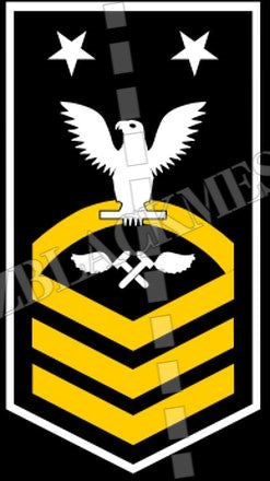 Aviation Structural Mechanic (AM) U.S. Navy Rating Badge Insignia Master Chief White Gold