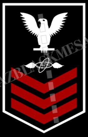 Aviation Electronics Technician (AT) First Class White Red