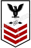 Aviation Electronics Technician (AT) First Class Black Red