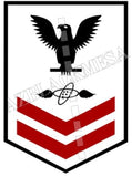 Aviation Electronics Technician (AT) Second Class Black Red