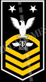 Naval Air Crewman (AW) U.S. Navy Rating Badge Insignia Master Chief White Gold