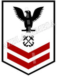Boatswain's Mates (BM) U.S. Navy Rating Badge Insignia Second Class Black Red