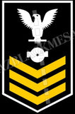 Boiler Technician (BT) U.S. Navy Rating Badge Insignia First Class White Gold
