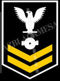 Boiler Technician (BT) U.S. Navy Rating Badge Insignia Second Class White Gold