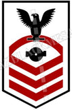 Boiler Technician (BT) U.S. Navy Rating Badge Insignia Chief Black Red