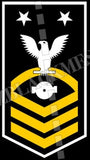 Boiler Technician (BT) U.S. Navy Rating Badge Insignia Master Chief White Gold