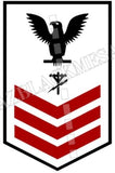 Construction Electrician (CE) U.S. Navy Rating Badge Insignia First Class Black Red