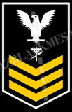 Construction Electrician (CE) U.S. Navy Rating Badge Insignia First Class White Gold