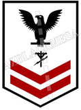 Construction Electrician (CE) U.S. Navy Rating Badge Insignia Second Class Black Red