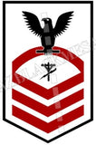 Construction Electrician (CE) U.S. Navy Rating Badge Insignia Chief Black Red