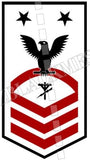 Construction Electrician (CE) U.S. Navy Rating Badge Insignia Master Chief Black Red