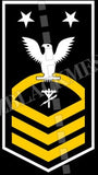 Construction Electrician (CE) U.S. Navy Rating Badge Insignia Master Chief White Gold