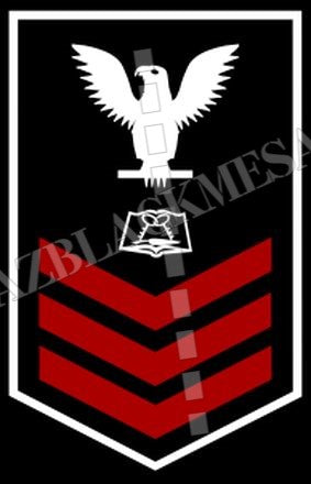 Culinary Specialist (CS) U.S. Navy Rating Badge Insignia First Class White Red