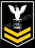 Culinary Specialist (CS) U.S. Navy Rating Badge Insignia Second Class White Gold