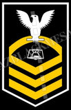 Culinary Specialist (CS) U.S. Navy Rating Badge Insignia Chief White Gold