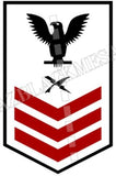 Cryptologic Technician (CT) U.S. Navy Rating Badge Insignia First Class Black Red