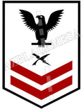 Cryptologic Technician (CT) U.S. Navy Rating Badge Insignia Second Class Black Red