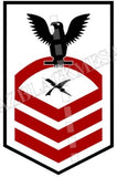 Cryptologic Technician (CT) U.S. Navy Rating Badge Insignia Chief Black Red