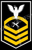 Cryptologic Technician (CT) U.S. Navy Rating Badge Insignia Chief White Gold