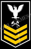 Damage Controlmen U.S. Navy Rating Badge Insignia First Class White Gold