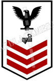 Disbursing Clerk (DK) U.S. Navy Rating Badge Insignia First Class Black Red